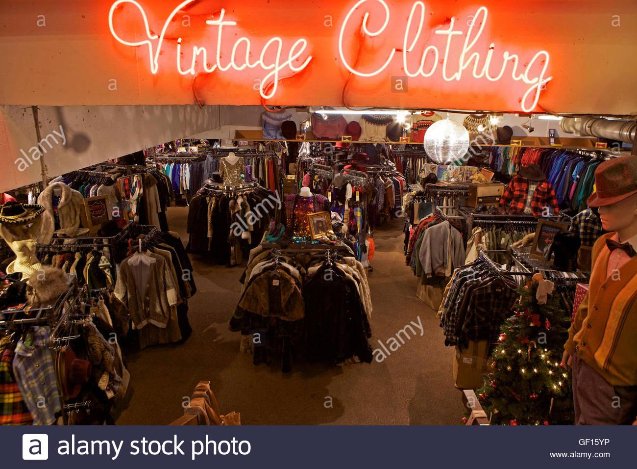 Vintage Clothing Store London Uk Stock Photo 112508698 Alamy