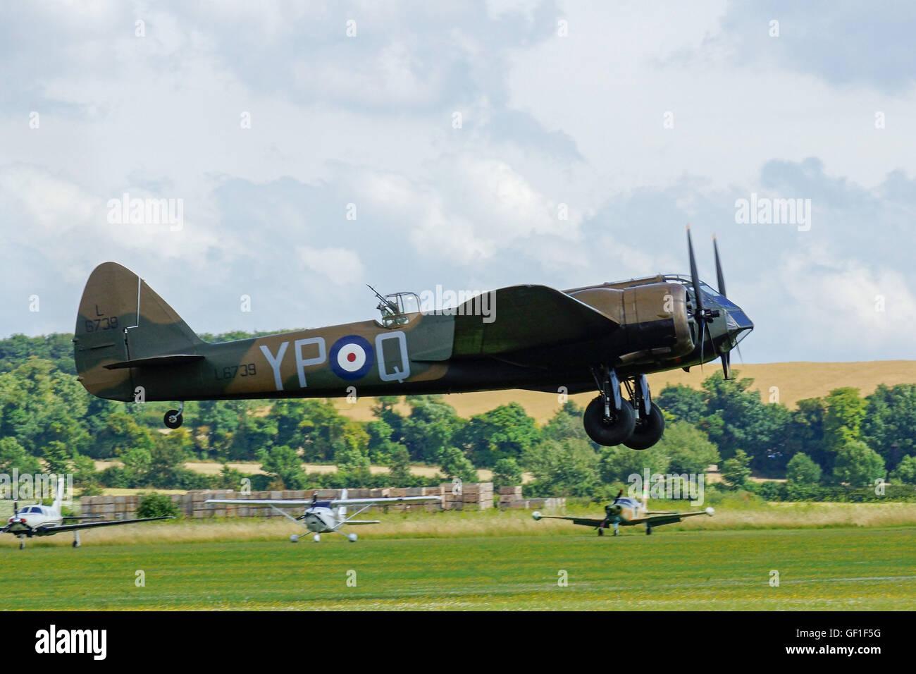 Bristol Blenheim Mk1 at RAF Duxford,Flying Legends Stock Photo