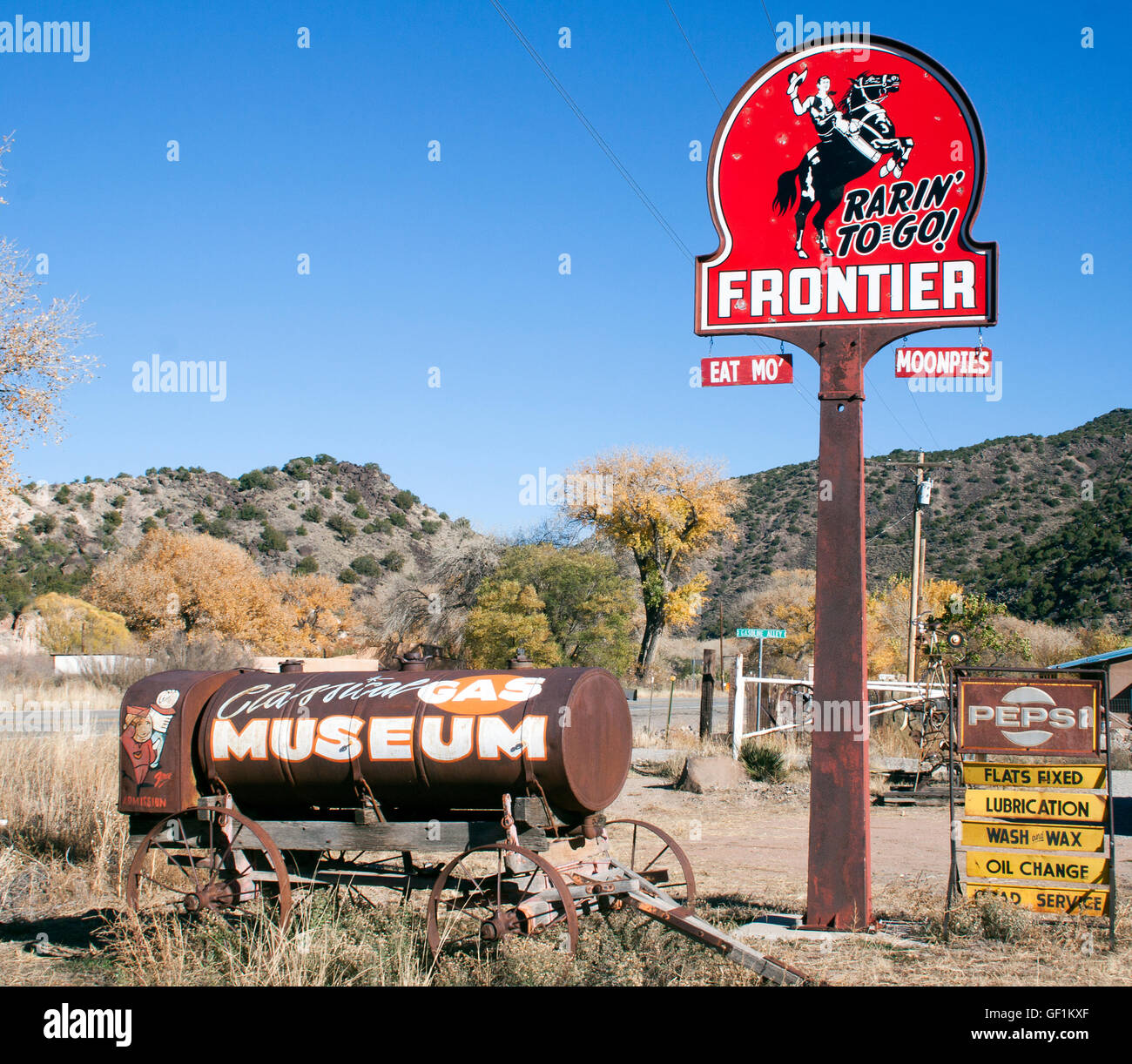 Classical Gas Museum in Embudo New Mexico - Stock Image