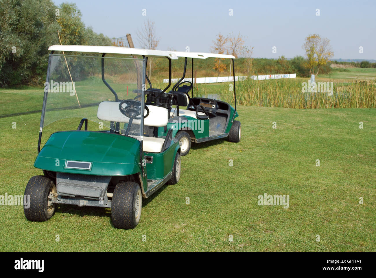 golf electric buggy - Stock Image