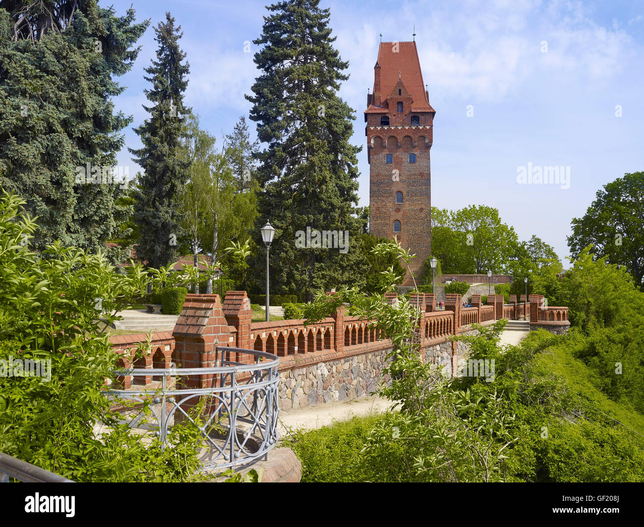 Tower at the castle, Tangermuende, Germany Stock Photo