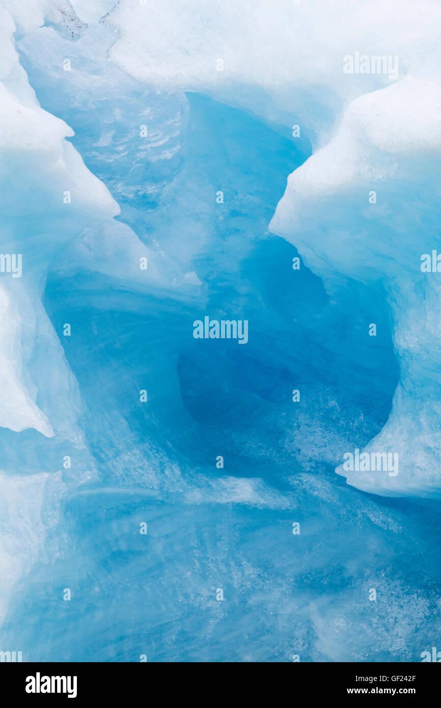 Blue Iceberg close up Jokulsarlon Lagoon Iceland LA008880 - Stock Image