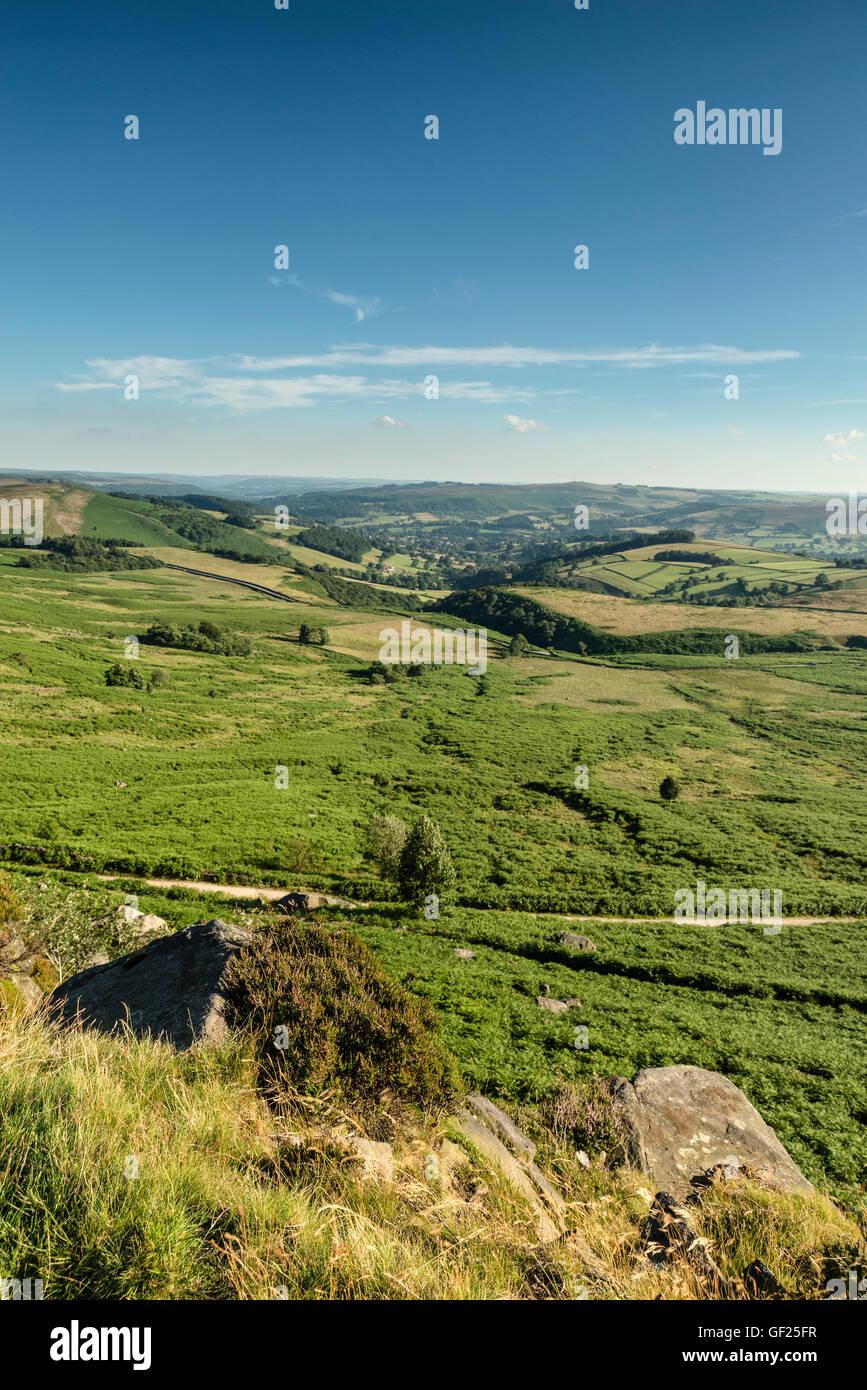 Landscape image of the peak district - Stock Image