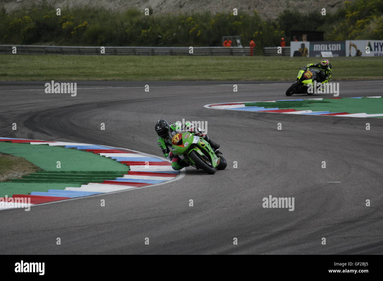 Nick Anderson (47) racing in the Pirelli National Superstock 600 Championship qualifying rounds at Thruxton 23 July - Stock Image