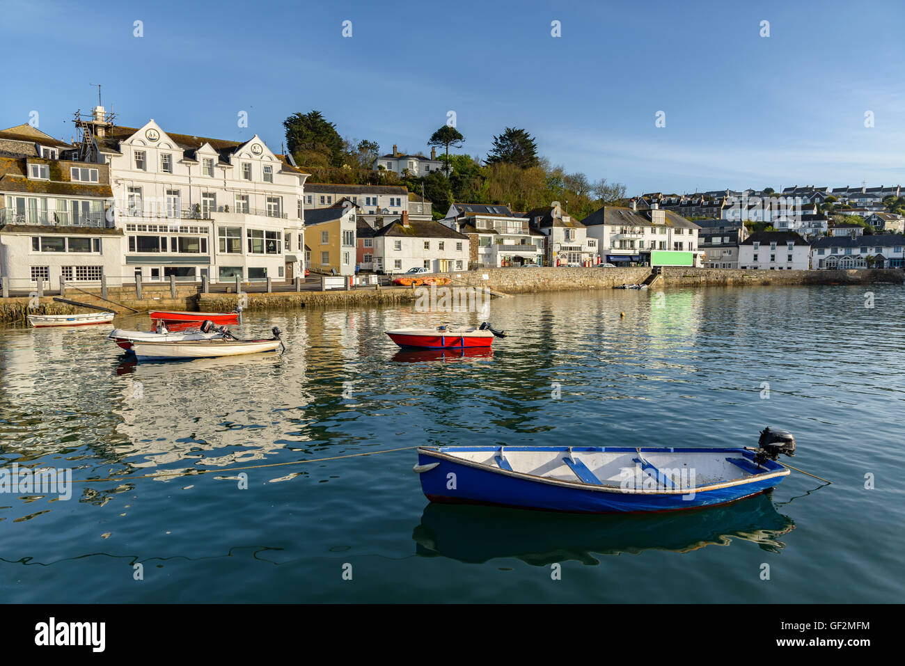St Mawes is a small town opposite Falmouth, on the Roseland Peninsula on the south coast of Cornwall, England, United - Stock Image