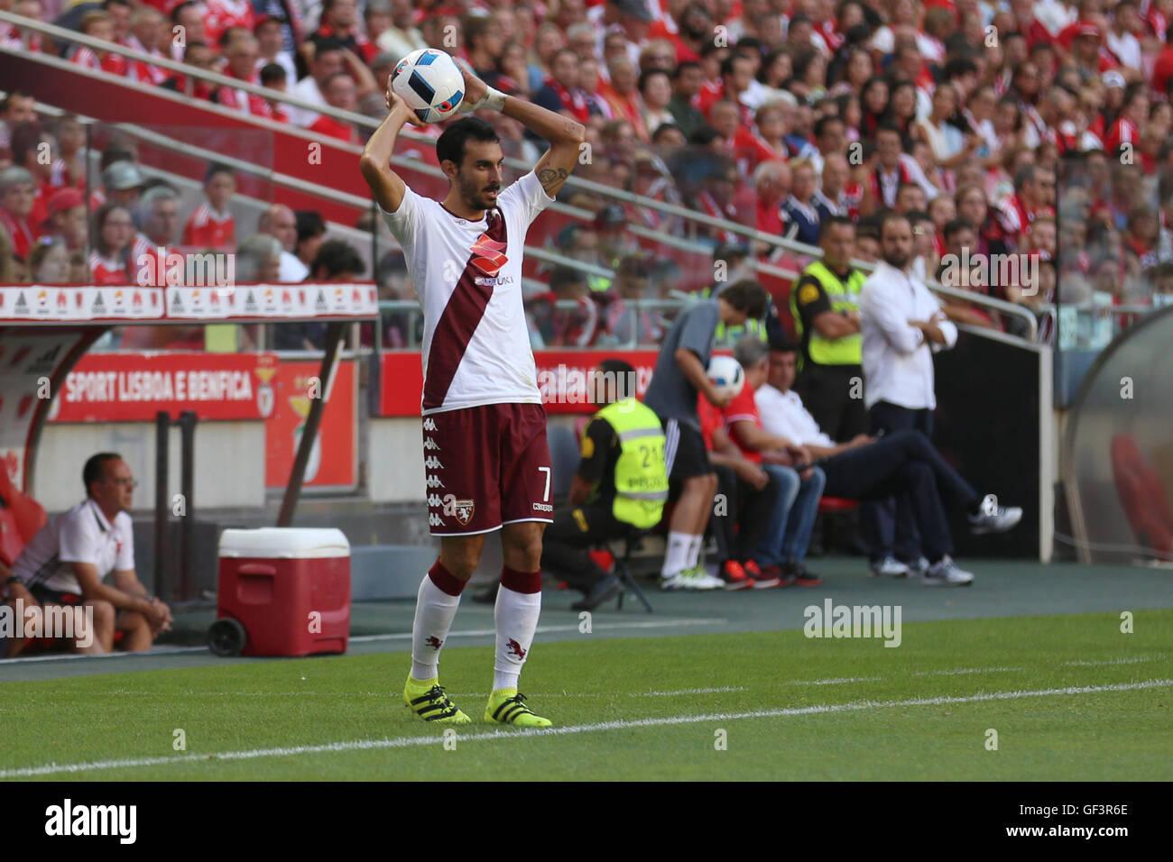 Lisbon, Portugal. 27th July, 2016. Torino's defender Davide Zappacosta Credit:  Alexandre Sousa/Alamy Live News Stock Photo
