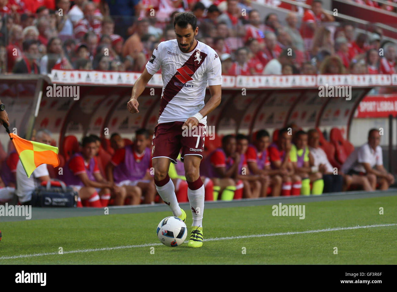 Lisbon, Portugal. 27th July, 2016. Torino's defender Davide Zappacosta Credit:  Alexandre Sousa/Alamy Live News Stock Photo