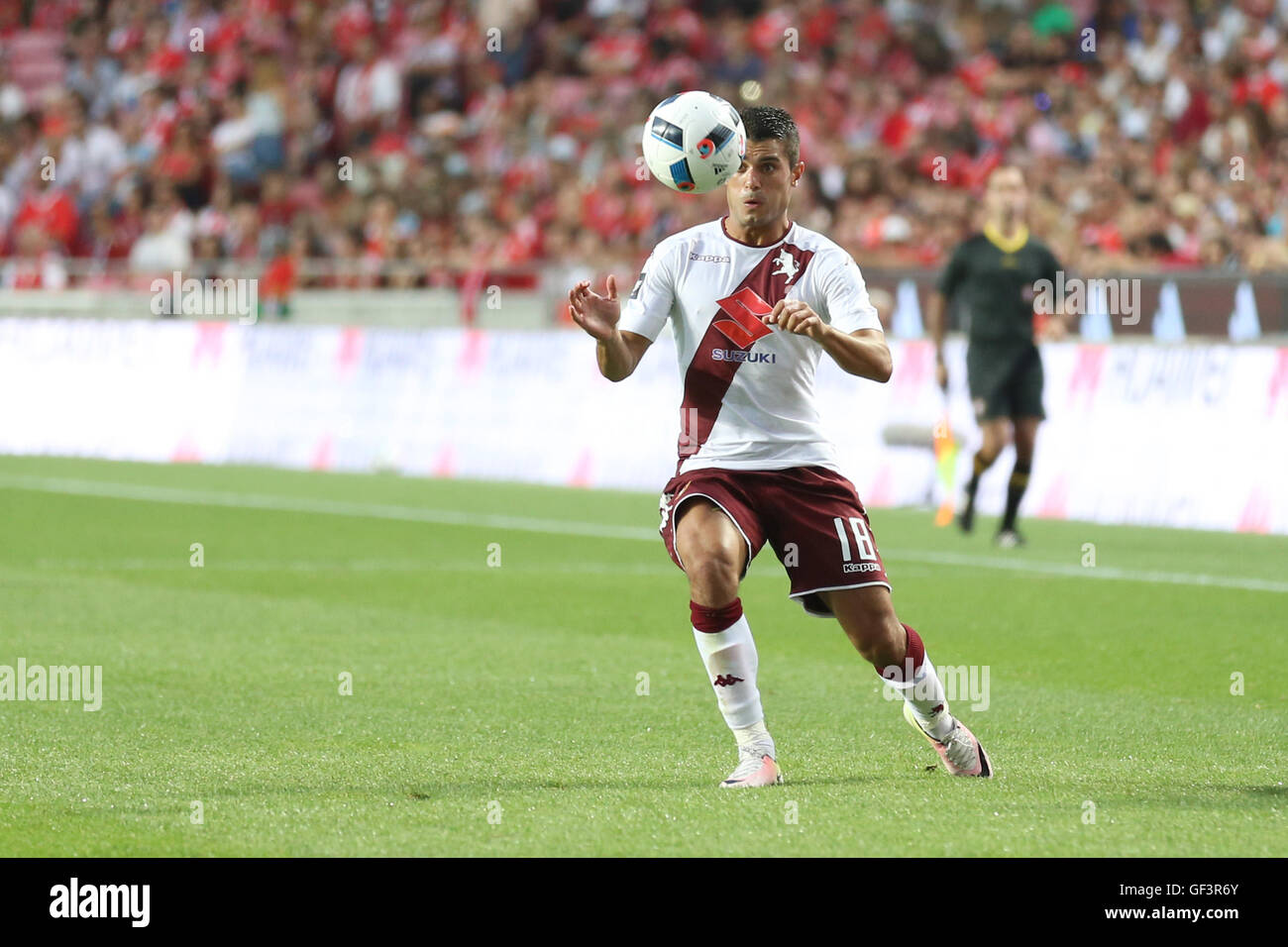 Lisbon, Portugal. 27th July, 2016. Torino's forward Iago Falque Credit:  Alexandre Sousa/Alamy Live News Stock Photo