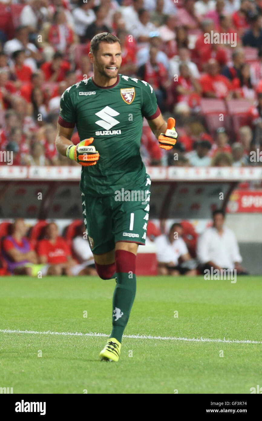 Lisbon, Portugal. 27th July, 2016. Torino's goalkeeper Daniele Padelli Credit:  Alexandre Sousa/Alamy Live News Stock Photo