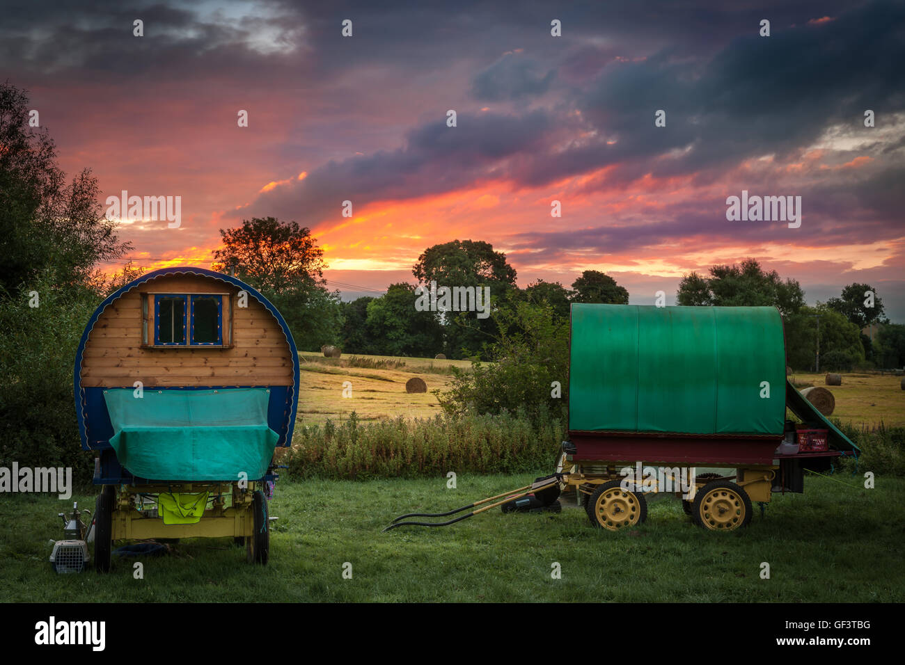 Travellers Dawn Stock Photo