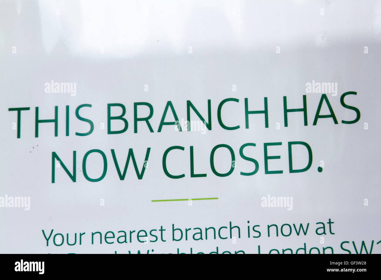 Wimbledon London, UK 28th July 2016. Lloyds banking group has announced to close 200 branches across the United - Stock Image