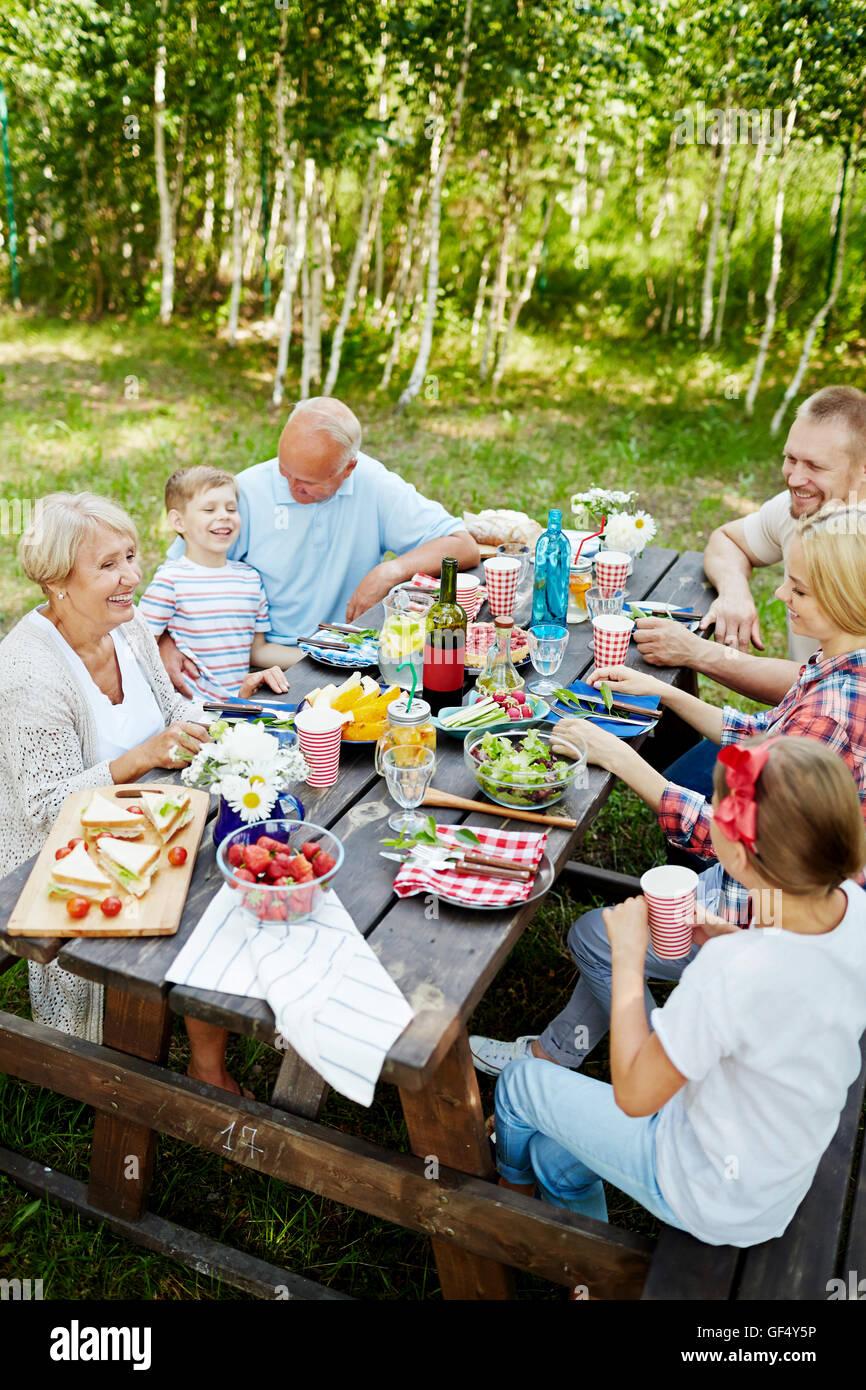 Family dinner - Stock Image