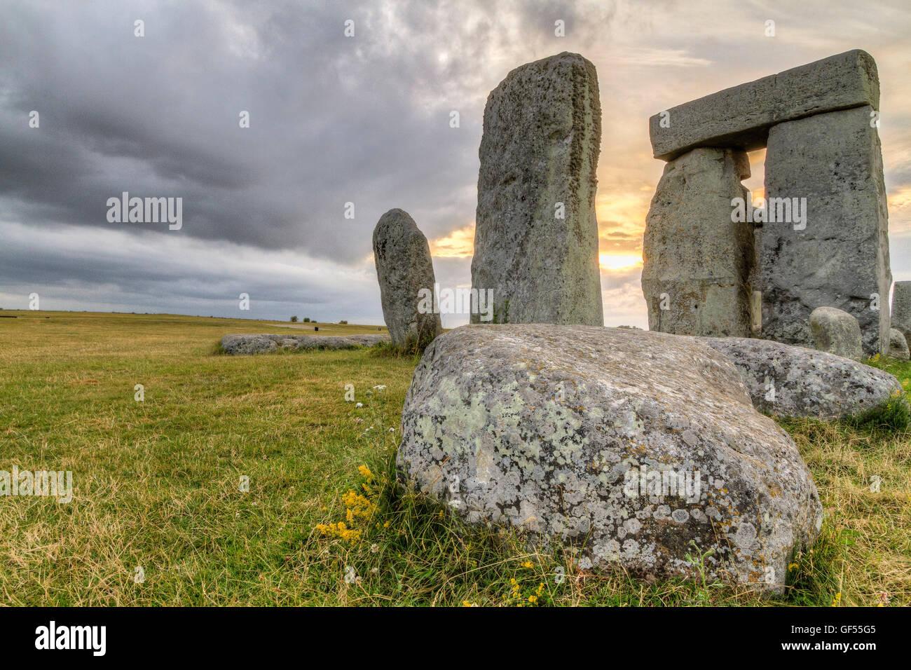 Stonehenge at Sunset, England - Stock Image