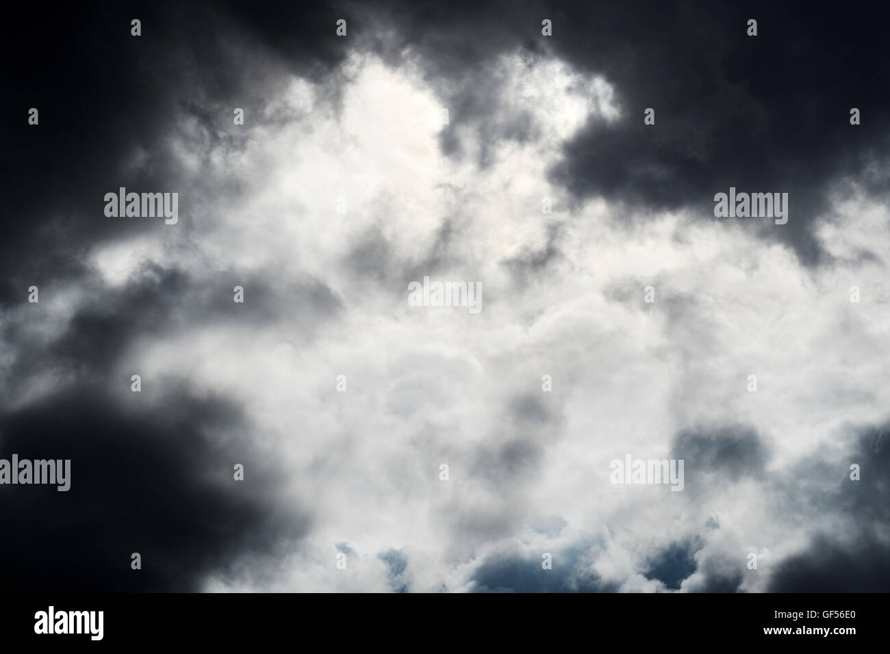 Storm cloud formations in the sky. UK. - Stock Image