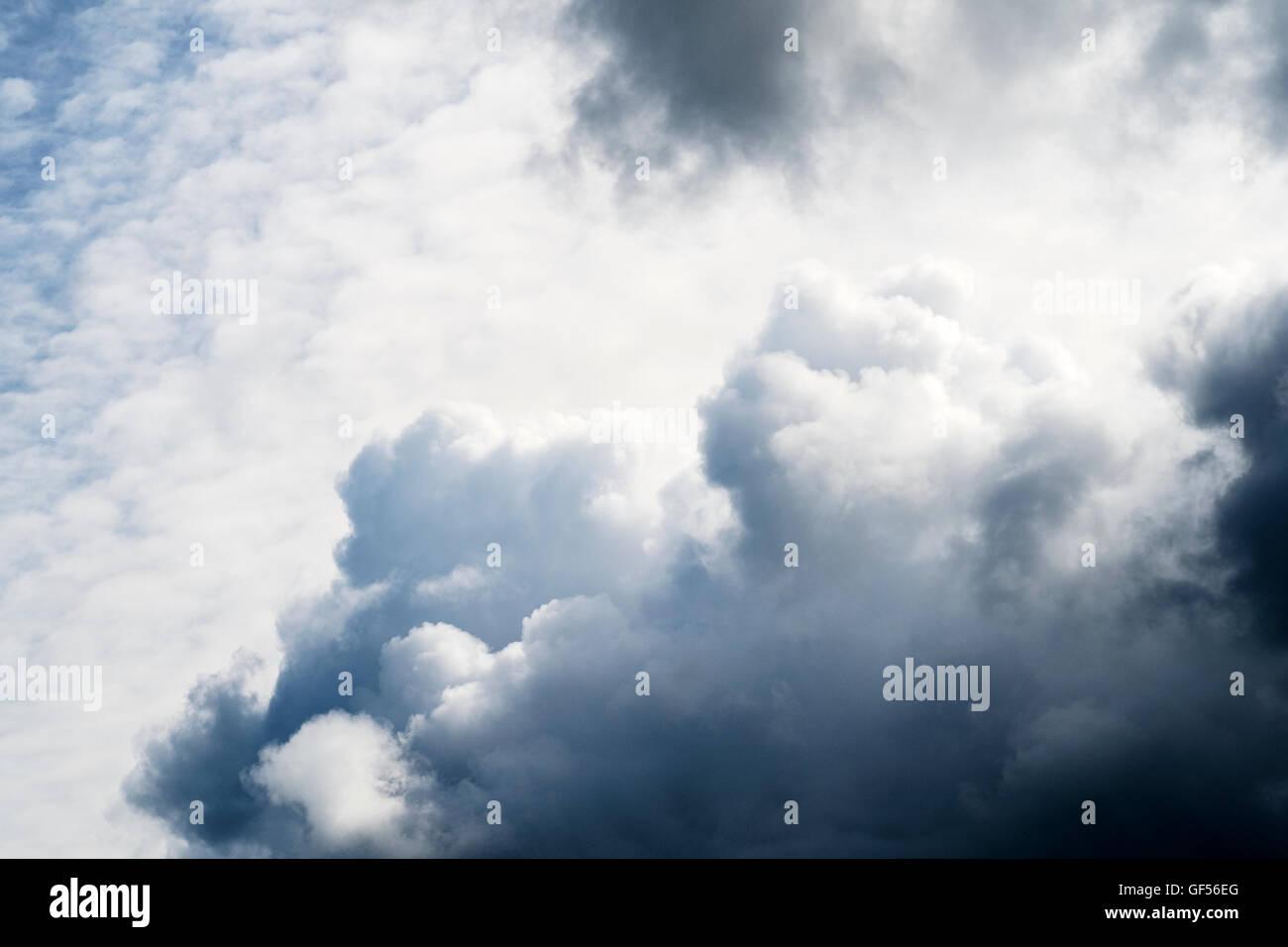 Cumulonimbus cloud formations in the sky. UK. - Stock Image