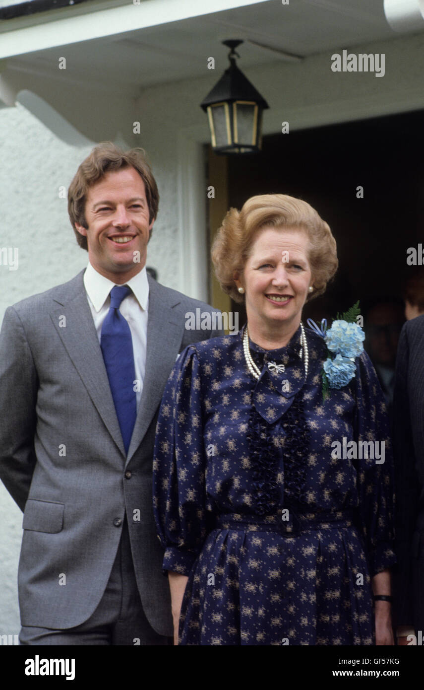 Family resemblance Margaret Thatcher Mark Thatcher outside Flood ...