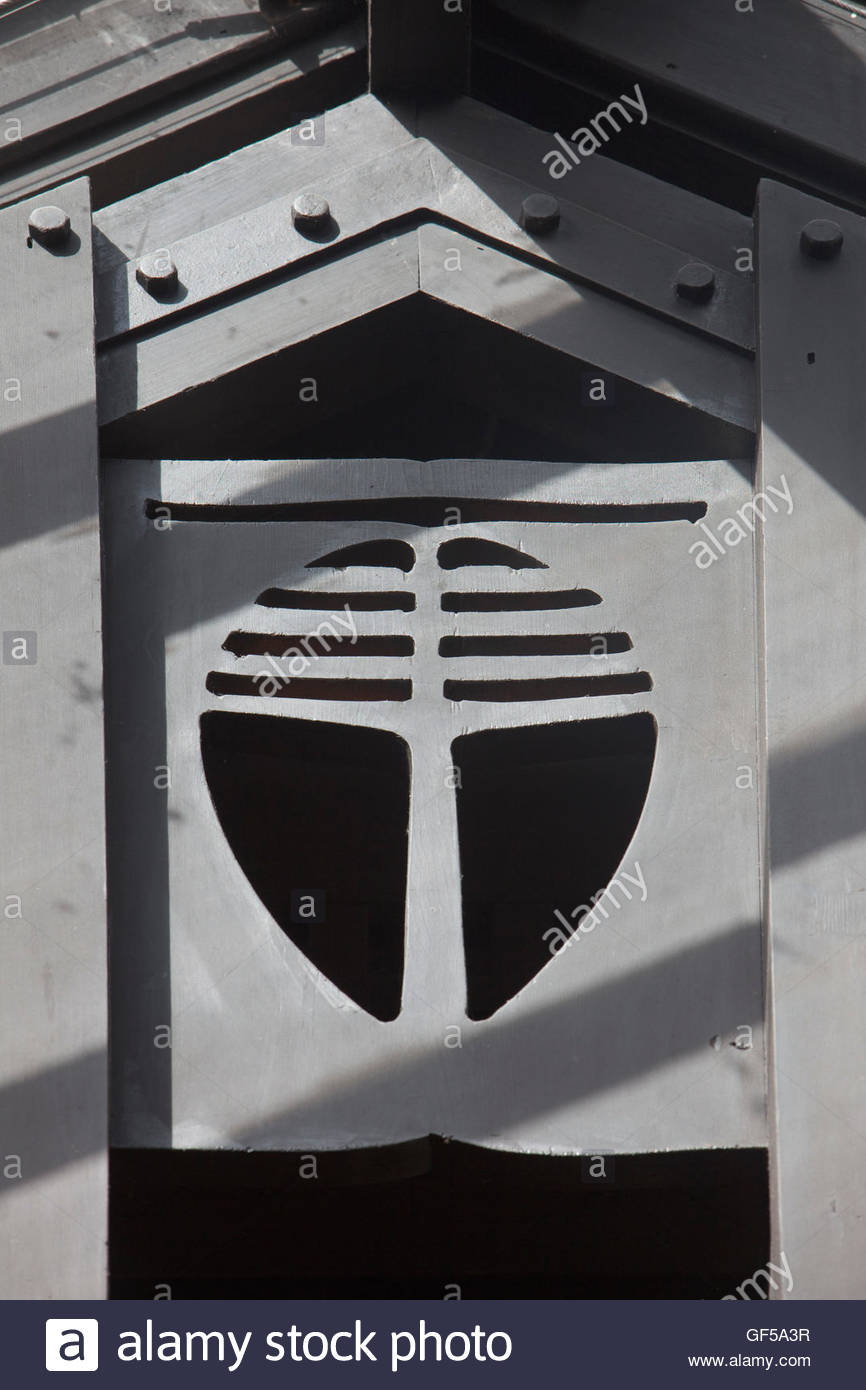 A detail of Queen's Cross Church, Garscube Road designed by Charles Rennie Mackintosh, Glasgow, Scotland. - Stock Image