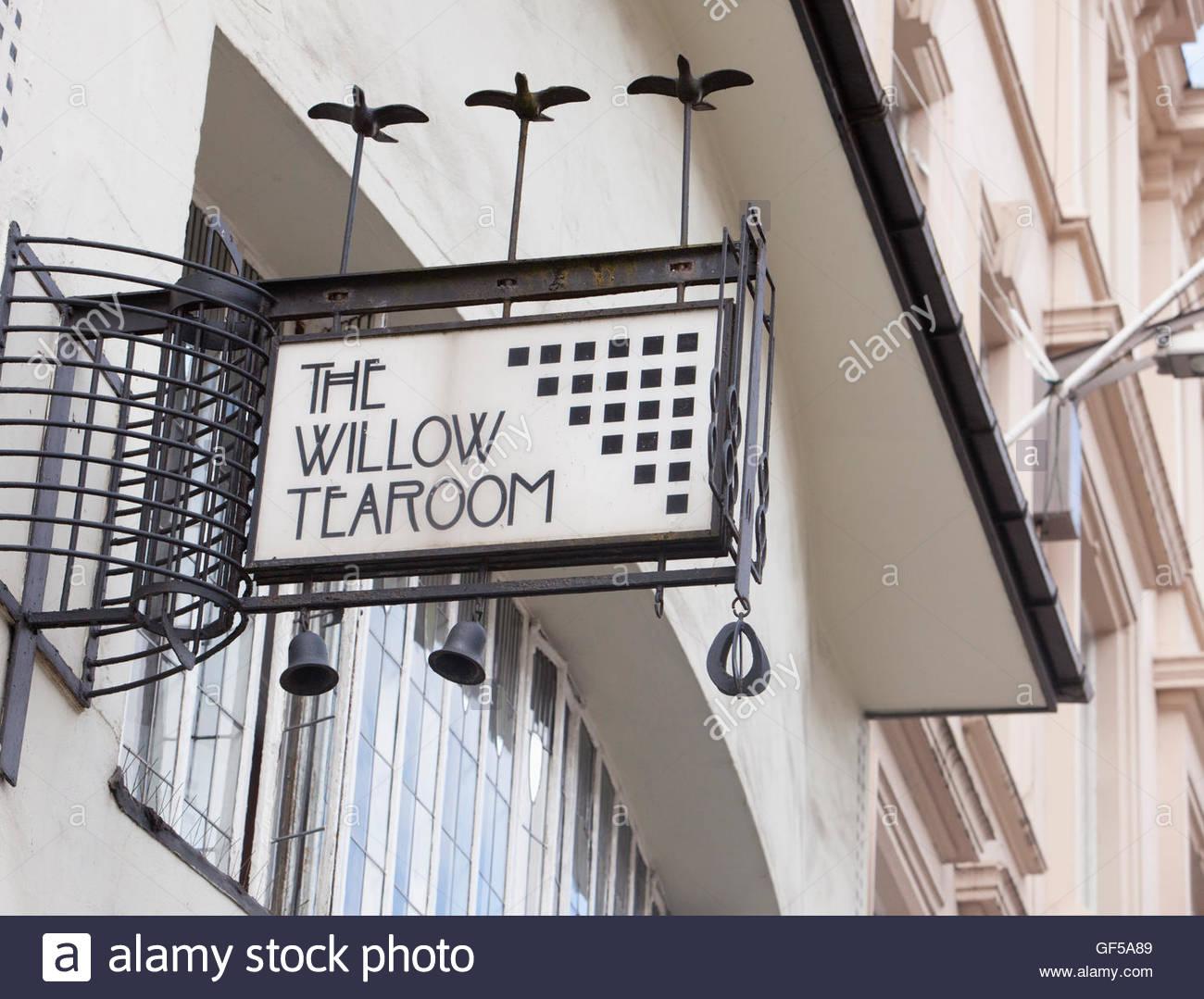 Willow Tearoom designed by celebrated Glasgow architect, Charles Rennie Mackintosh, Glasgow Scotland - Stock Image