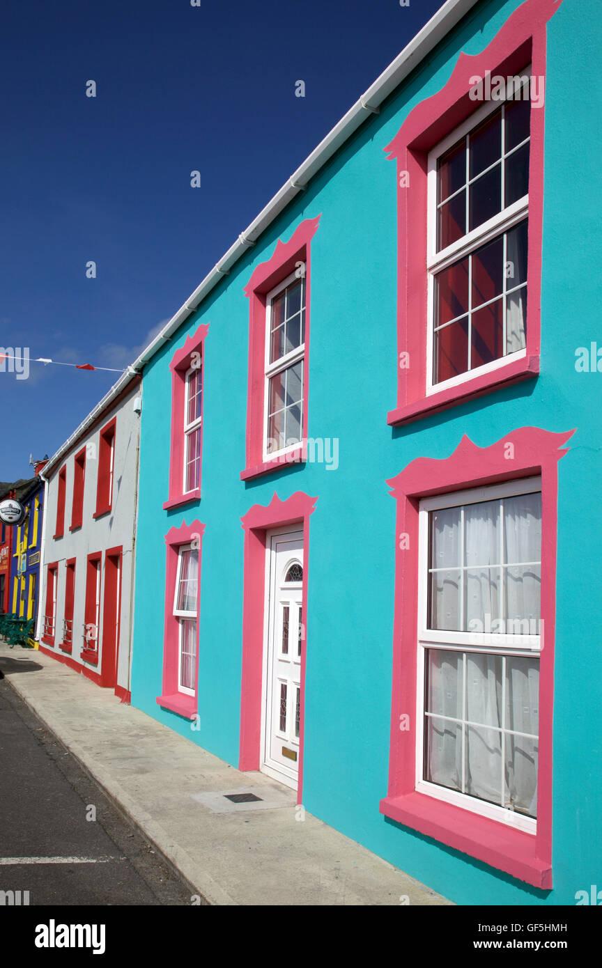 streetscape in Allihies, West Cork, Ireland - Stock Image
