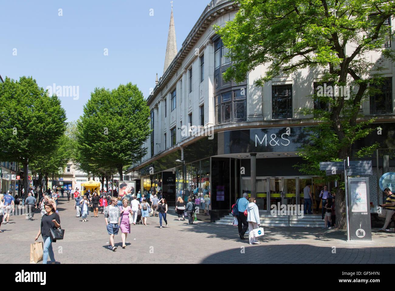 Albert Street, Nottingham city centre - Stock Image