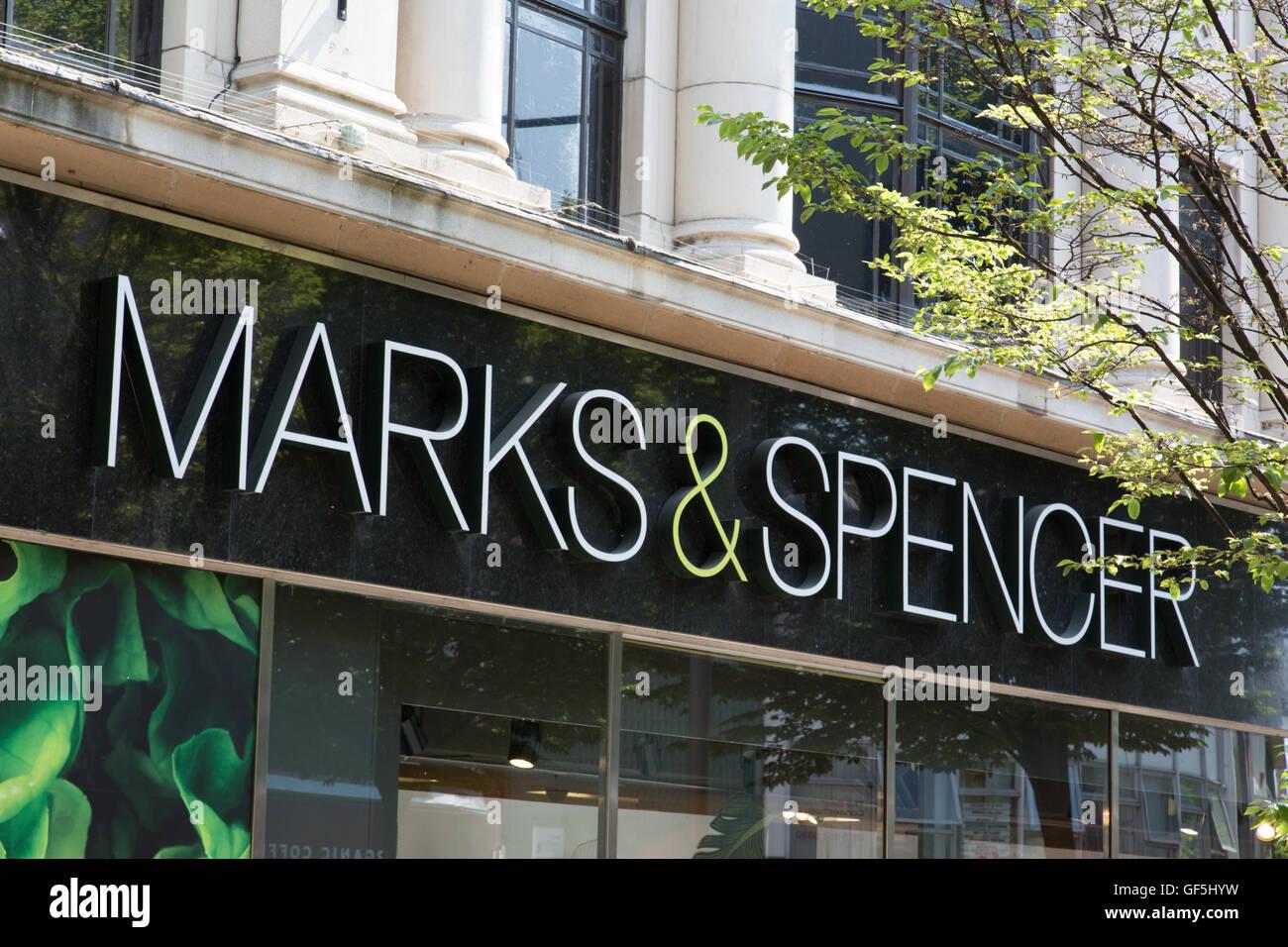 M&S, Albert Street, Nottingham city centre - Stock Image