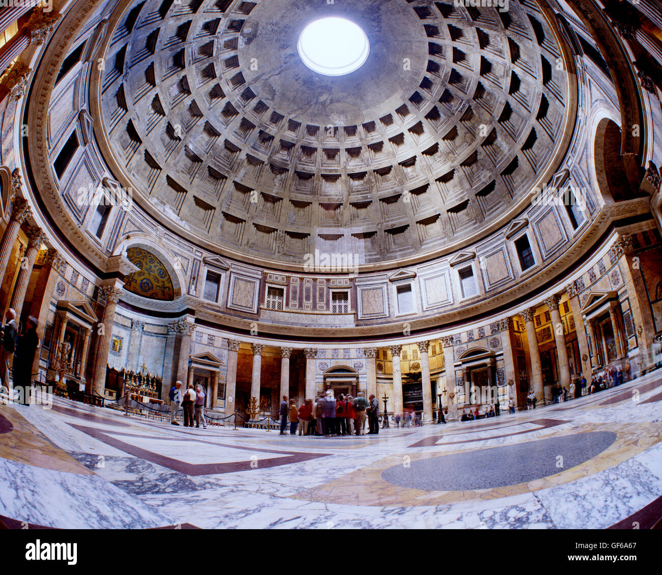 Interior of the Pantheon, Rome, Italy - Stock Image