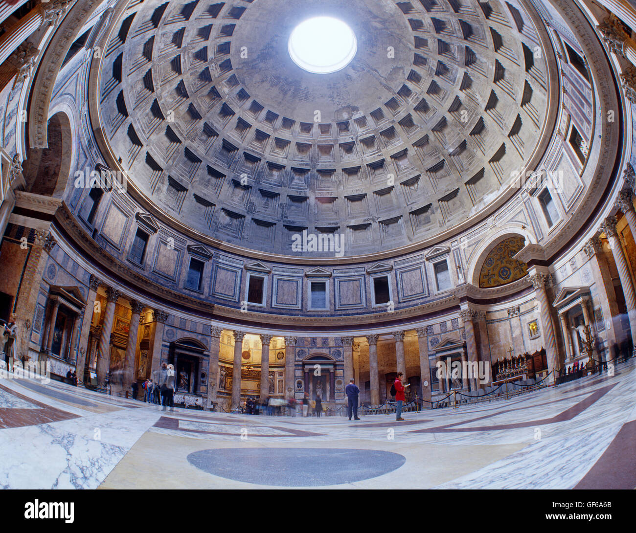 Interior of the Pantheon, Rome, Italy Stock Photo