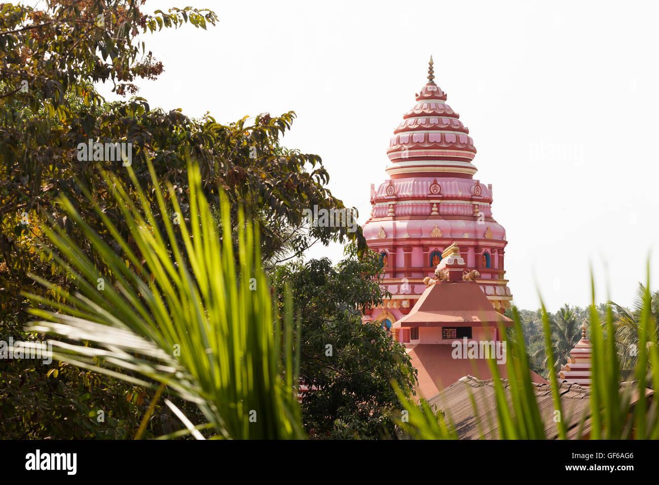hindu temple dome india goa - Stock Image