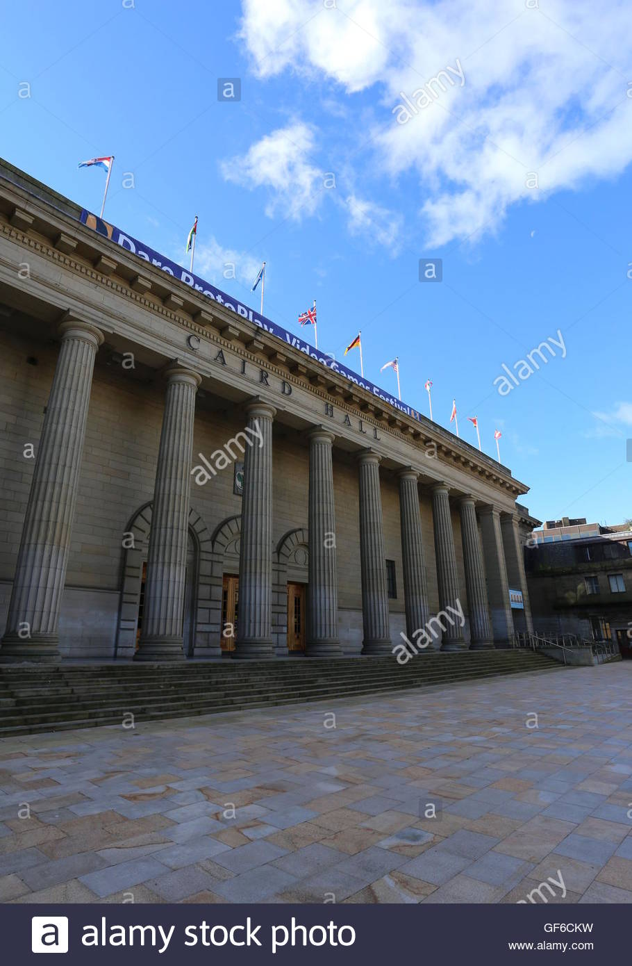 Columns of Caird Hall Dundee Scotland  July 2016 - Stock Image