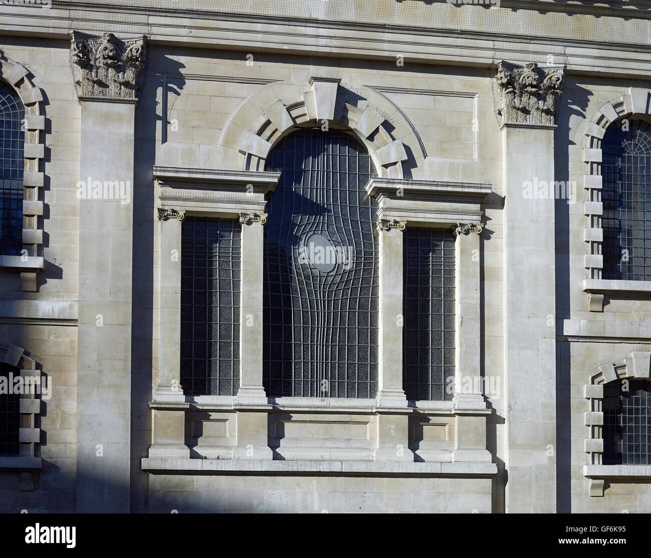 St Martin In The Fields; by James Gibbs 1720-26. Venetian window exterior - Stock Image