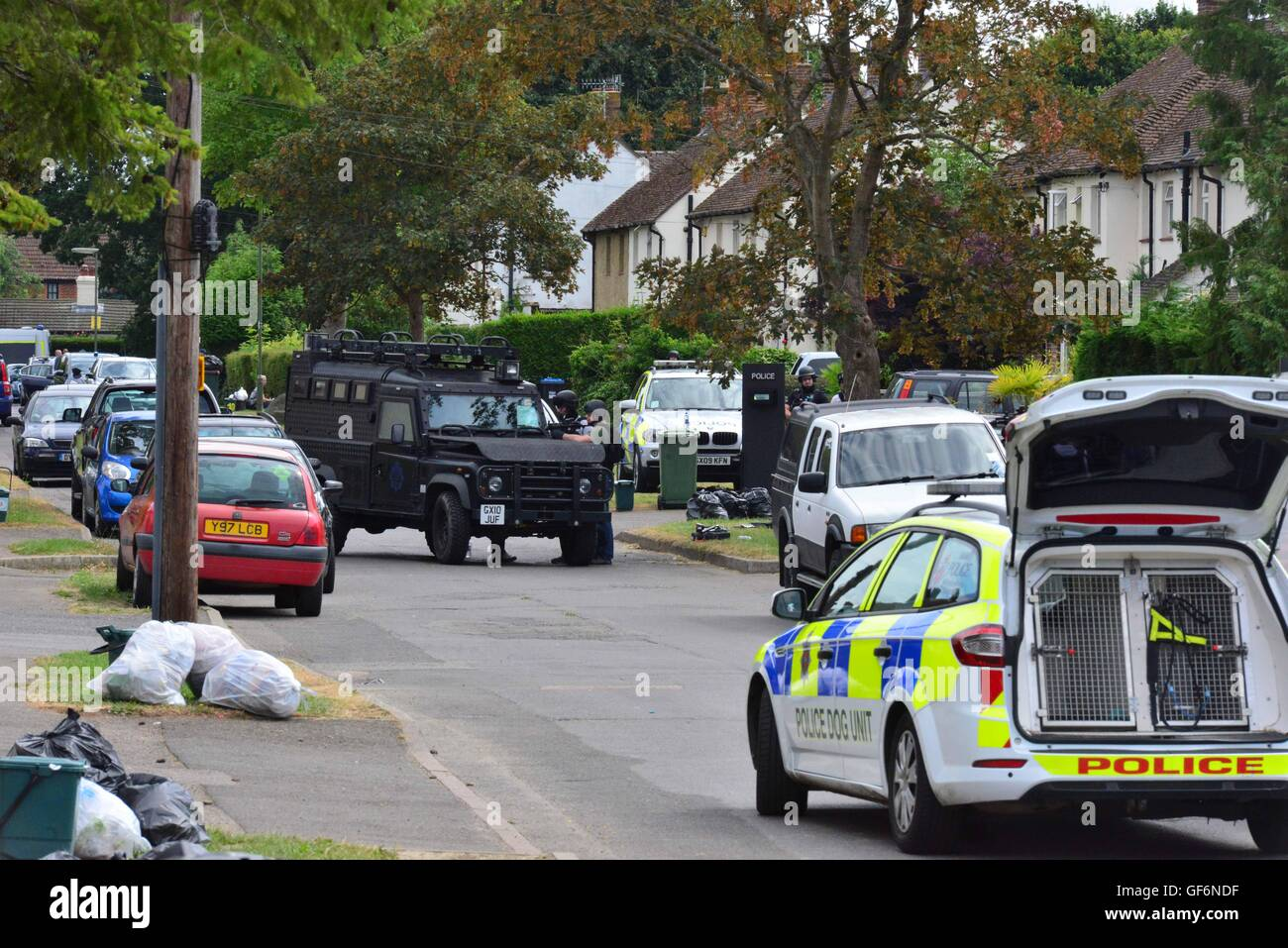 English Police Stake out in Surrey - Stock Image