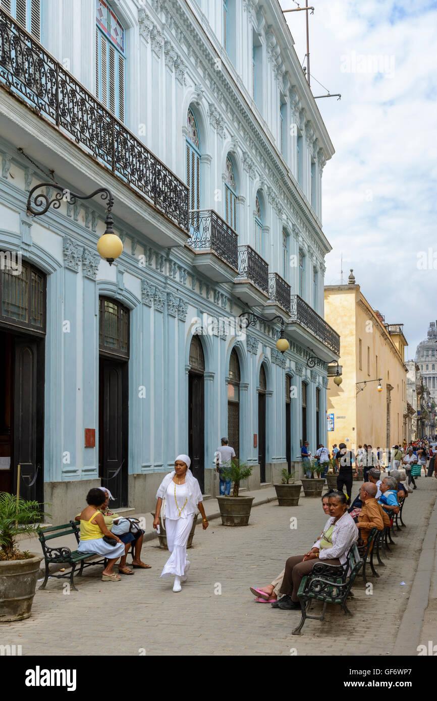 Calle Brasil (Teniente Rey), Old Havana (La Habana Vieja), Havana, Cuba - Stock Image