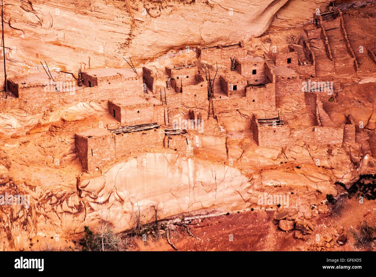 The historic Betatakin ruins in Navajo National Monument, Arizona. - Stock Image