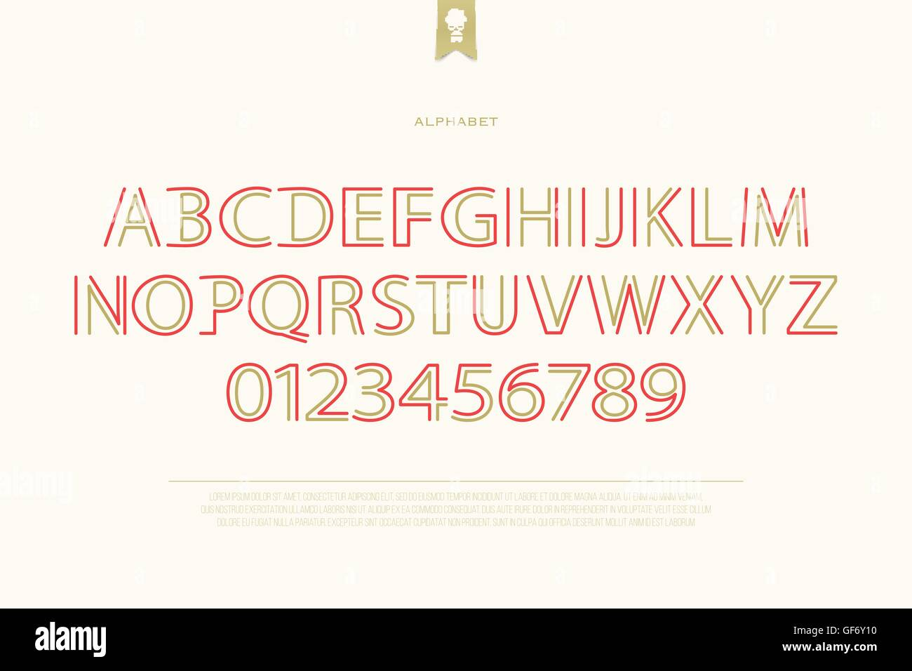Classical Style Alphabet Letters And Numbers Vector Font Type Stock
