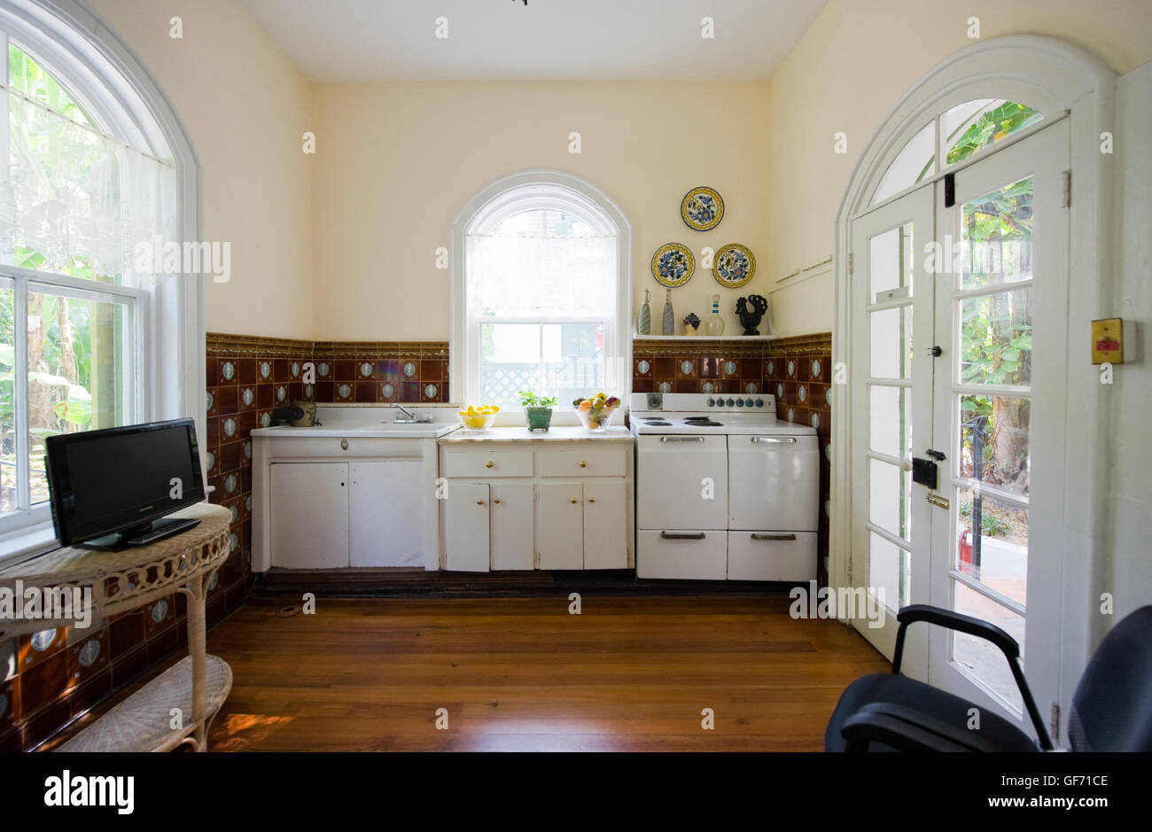 KEY WEST, FLORIDA, USA - MAY 03, 2016: The kitchen of the Ernest Hemingway House in Key West in Florida. Stock Photo