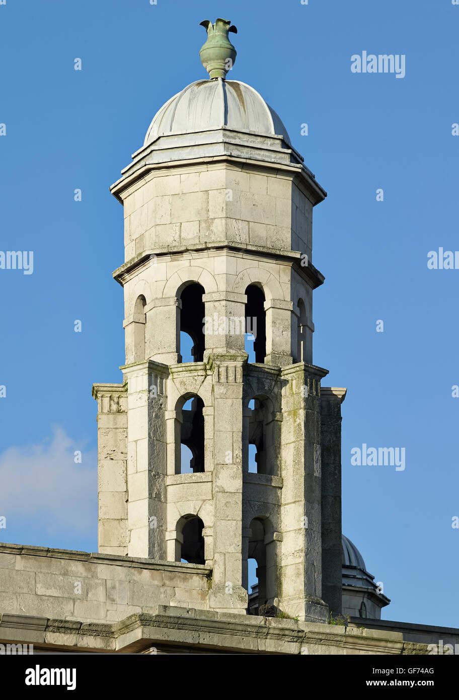 St George in-the-East, Stepney. Pepper pot; built by Nicholas Hawksmoor 1714 - 1729 - Stock Image