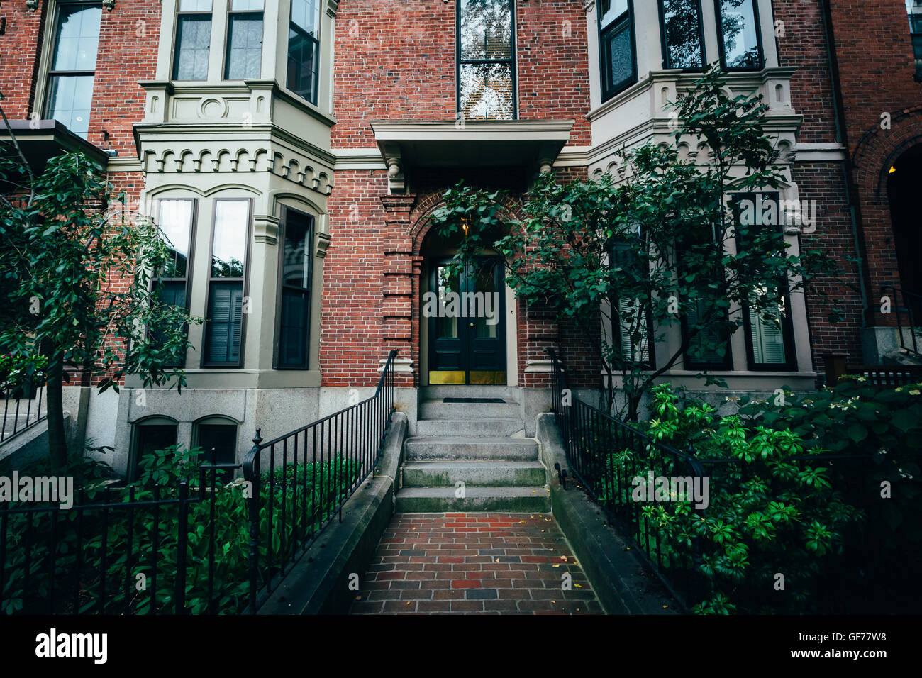 Houses in Bunker Hill, Charlestown, Boston, Massachusetts. - Stock Image