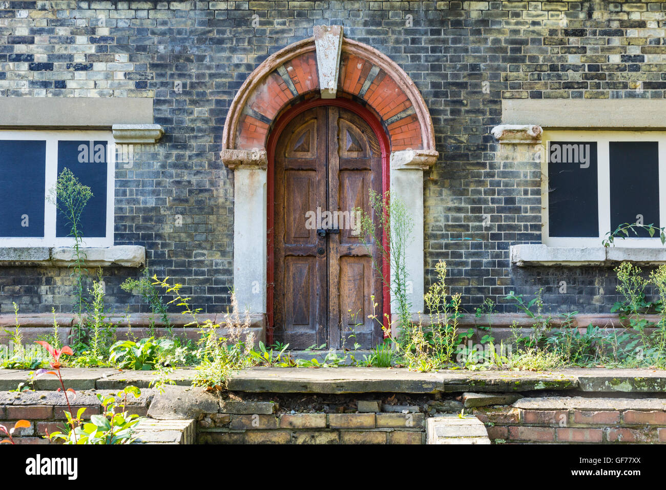 Derelict building, Abbey Mills Pumping Station, London, England, United Kingdom - Stock Image