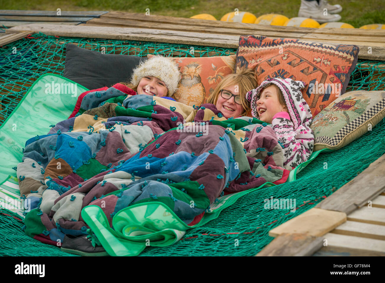 Children at The Annual Seaman's Festival, Reykjavik, Iceland - Stock Image