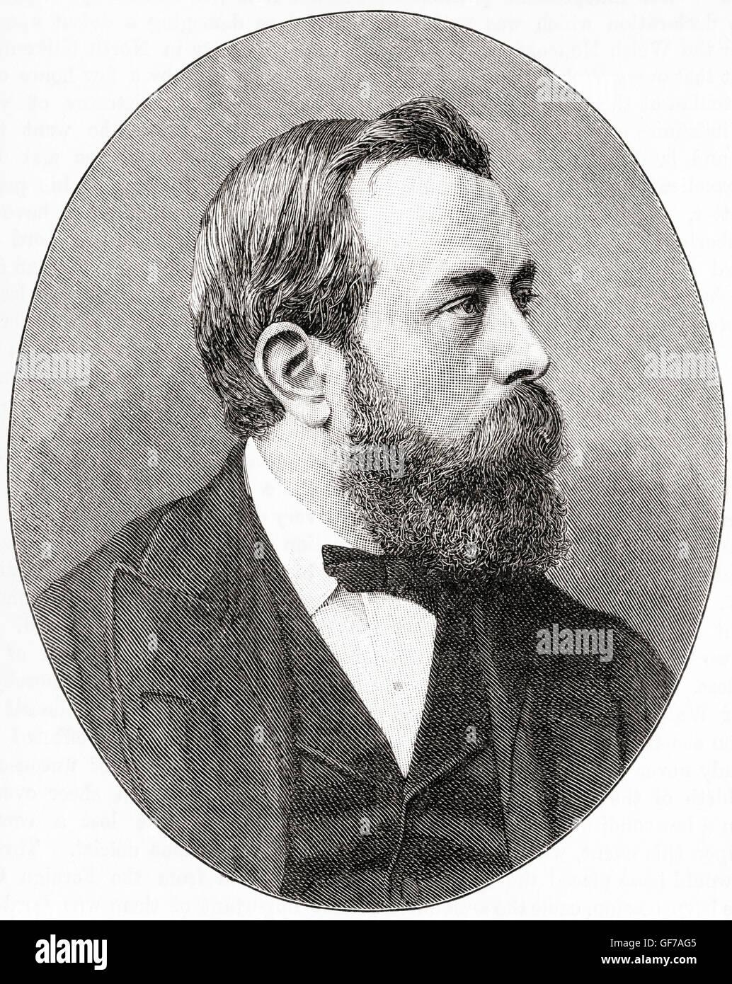 William Alexander Hunter,  1844 – 1898.  Scottish jurist and Liberal politician. - Stock Image