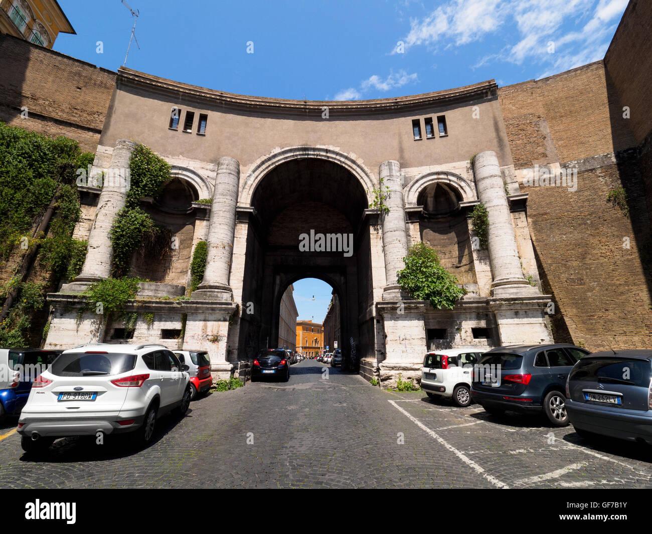 Porta di Santo Spirito - Rome, Italy - Stock Image