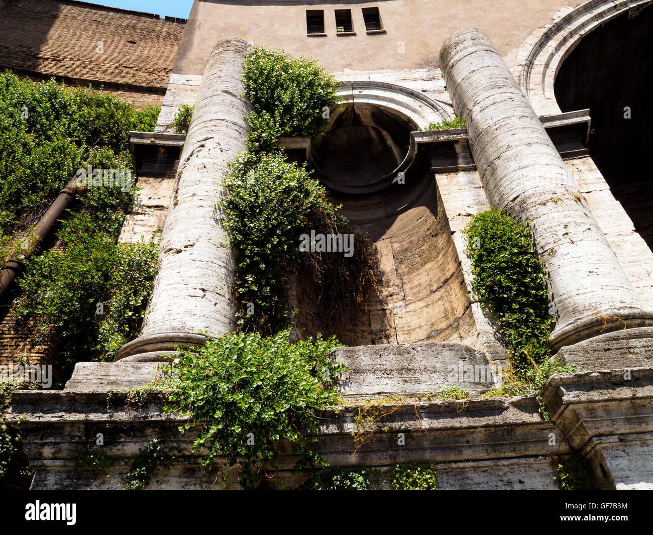 Columns of Porta di Santo Spirito - Rome, Italy - Stock Image