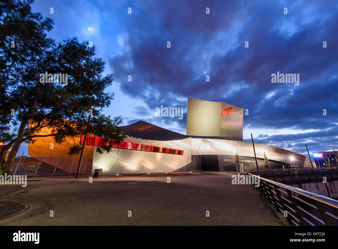 Imperial War Museum North is a museum in the Metropolitan Borough of Trafford in Greater Manchester, England. - Stock Image