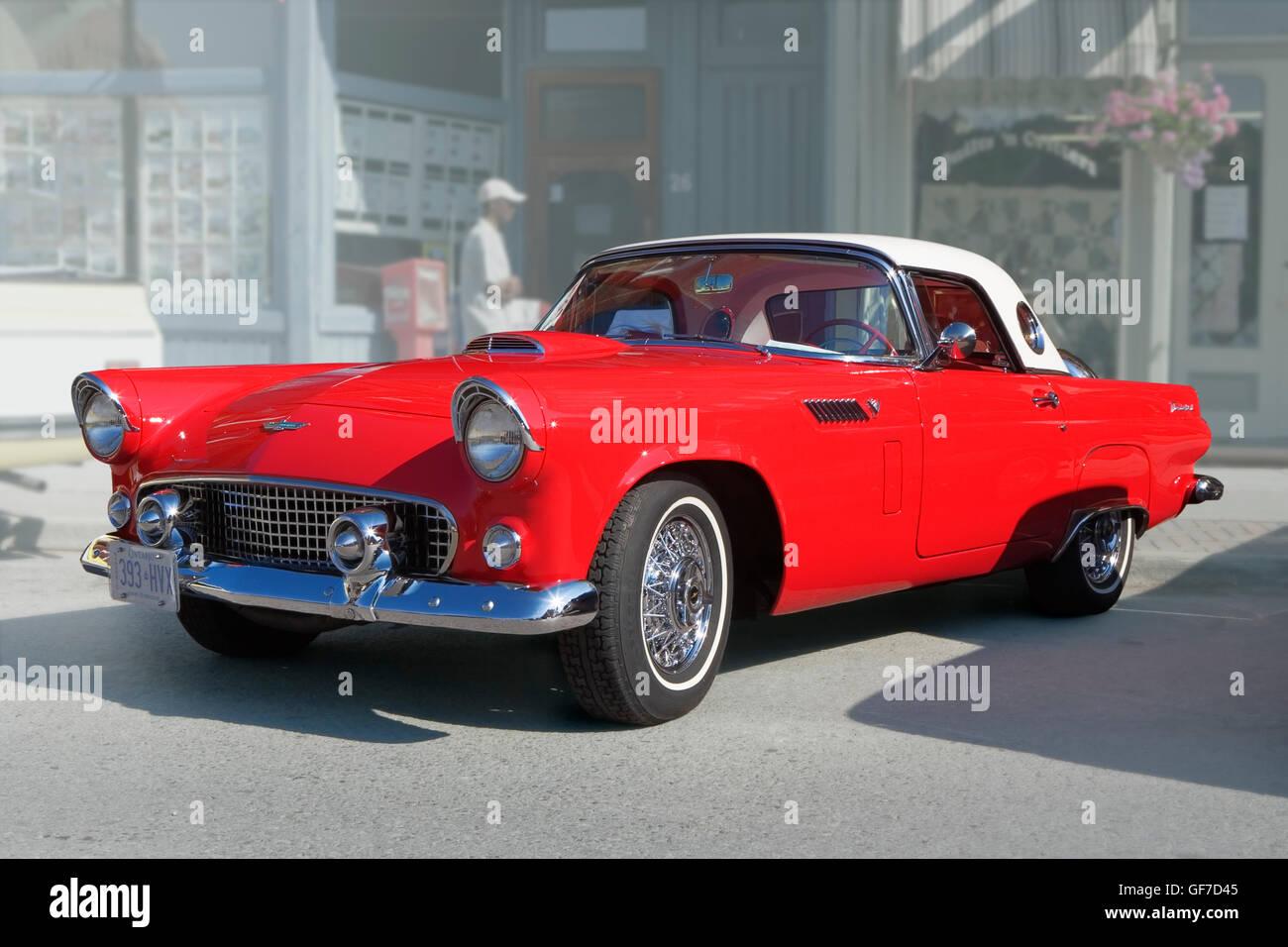 Antique car Ford Thunderbird 1956 Stock Photo