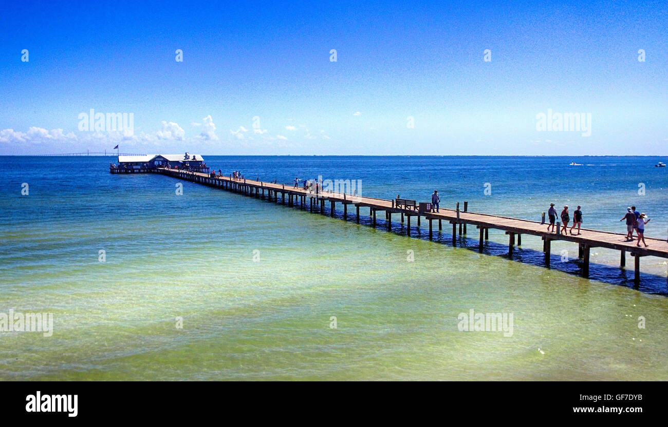 Aerial View Of People On Anna Maria Island City Pier In-3406