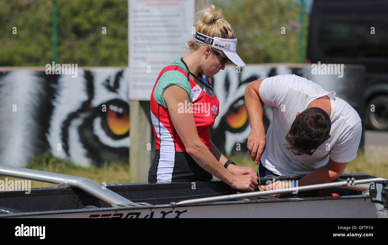 2016 Home International Rowing Regatta in Cardiff Bay - Battle of the Blades - Stock Image