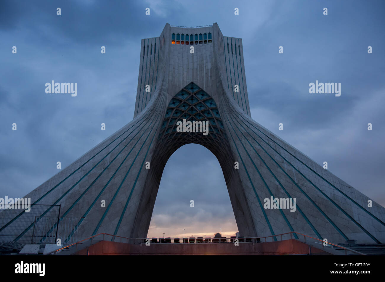 Borj-e Azadi (Liberty Tower). The tower build as a monument marks the west entrance to the city and was the symbol - Stock Image