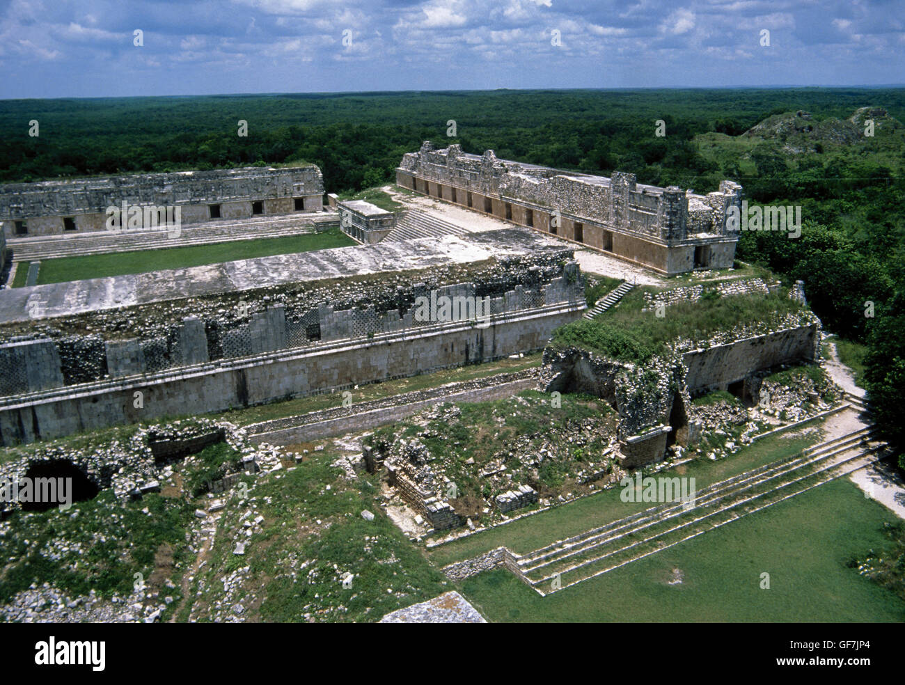 Maya civilization. Uxmal city. Puuc region. Yucatan. Mexico. - Stock Image