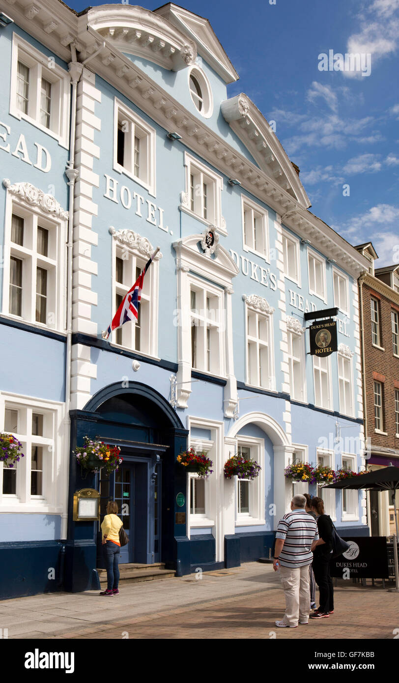 UK, England, Norfolk, King's Lynn, Tuesday Market Place, Duke's Head Hotel - Stock Image