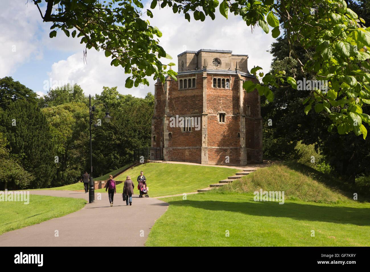 UK, England, Norfolk, King's Lynn, The Walks public park, Red Mount Chapel C15th wayside pilgrims chapel - Stock Image
